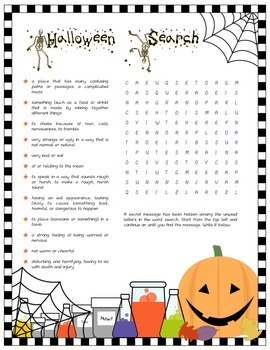 Halloween Word Search (5th/6th)