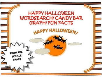 Halloween Word Search/ Candy Bar Graph/ Five Candy Facts