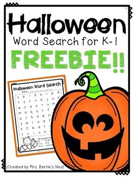 Halloween Word Search FOLLOWER FREEBIE!!
