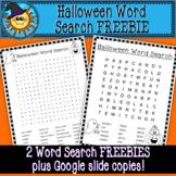 Halloween Word Search FREEBIE with Google Slide copies