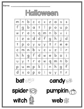 Halloween Word Search Freebie
