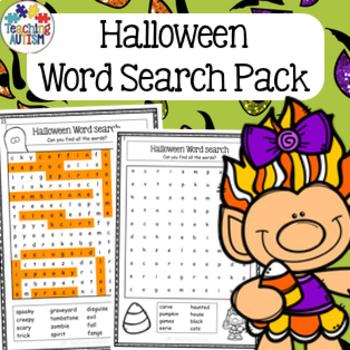 Halloween Activities - Word Search Worksheets