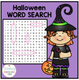 Halloween Word Search Second Grade