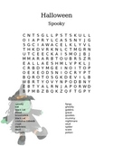 Halloween Word Search - Spooky Middle School Fun!
