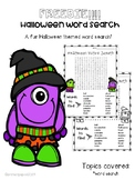 Halloween Word Search- Super Cute!