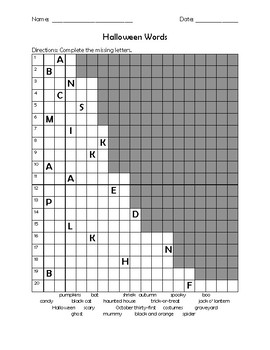 Halloween Word Search and Activities