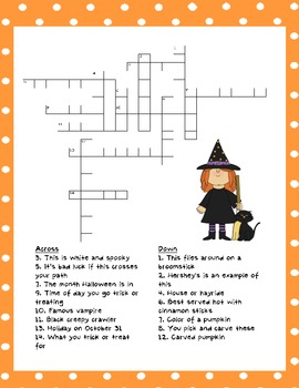 Halloween Word Search and Crossword Puzzles