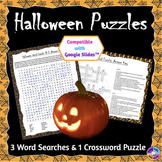 Halloween Word Search and Crossword Puzzles: Print & Paper