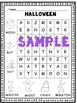 Halloween Word Searches and Writing