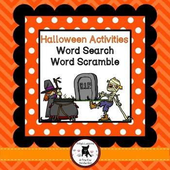 Halloween Word Search and Word Scramble