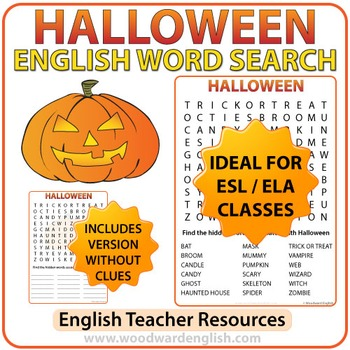 Halloween Word Search in English