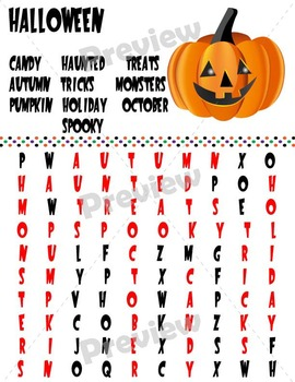 Halloween Word Searches (No Prep!)