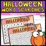 Halloween Word Searches DIGITAL
