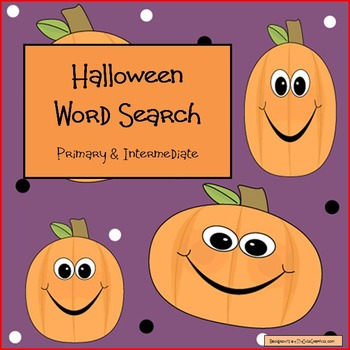 Halloween Word Searches - Primary & Intermediate