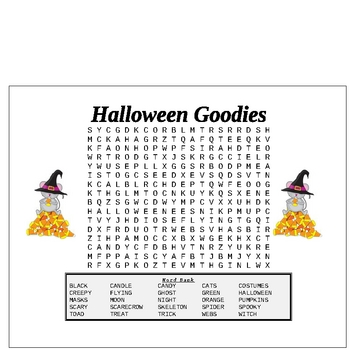 Halloween Word Searches and Scramble