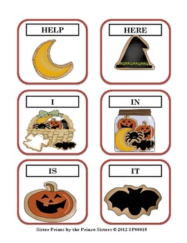 Halloween Word Set Pre-Primer