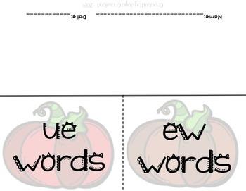 Halloween Word Sorts: Long U vs. Short U