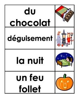 Halloween Word Study (Word Wall/ Flash Cards)