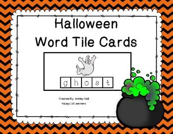 Halloween Word Tile Cards