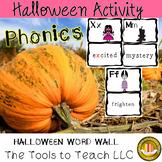A Halloween Word Wall Phonics English Language Arts Center Station