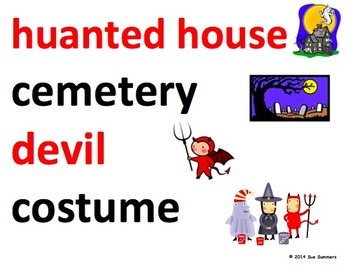 Halloween Word Wall - 39 Words