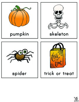 Halloween Word Wall Cards and Literacy Center