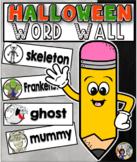 Halloween Word Wall Cards Set