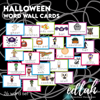 Halloween Word Wall Cards (set of 12)