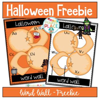Halloween - Word Wall Freebie