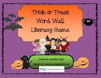 Halloween Word Wall Board Game