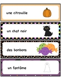 Halloween Word Wall - Mots étiquettes -French -Français