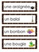 Halloween Word Wall - Murale des mots pour l'Halloween - French