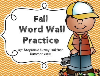 Fall Word Wall Practice