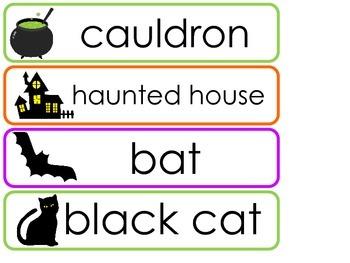 Halloween Word Wall Weekly Theme Posters.