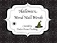 Halloween Word Wall Word Cards -Full Set 96 Words