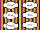 Halloween Word Wall Word Cards - Starter Set 30 Words
