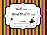 Halloween Word Wall Word Cards - Starter Set 30 Words