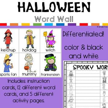 Halloween Write the Room Word Work