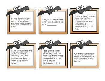 Halloween Word Wall and Story Writing