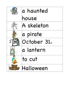 Halloween Word Walls / Flash Cards / Vocabulary