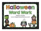 Halloween Word Work
