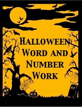 Halloween Word and Number Work