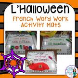 French Halloween Word Work Activity Mats