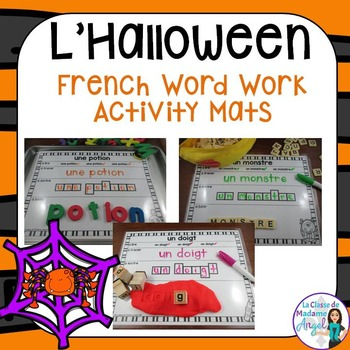 French Halloween Word Work Activity Mats