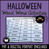 Halloween Word Work & Literacy Activity Packet