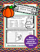 Halloween Activities Fun Word Work Flip Book