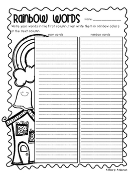 No Prep Halloween Word Work Fun Activities - Word Study /