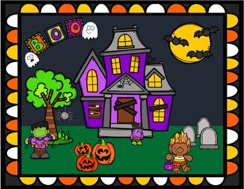 Halloween Word Work Literacy Game