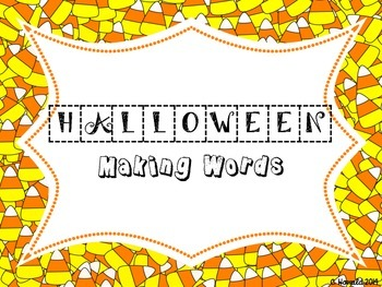 Halloween Word Work - Making Words