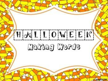 Halloween Word Work - Making Words